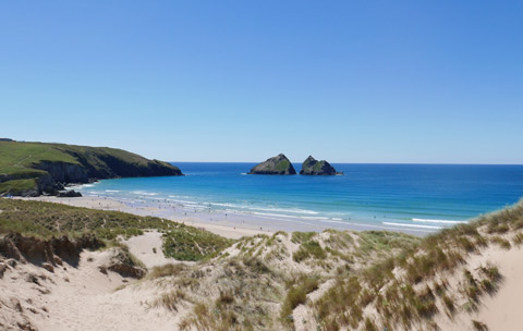 Cornwall beaches Holywell BAy Newquay