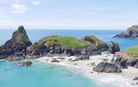 Cornwall beaches Kynance Cove Lizard Peninsula
