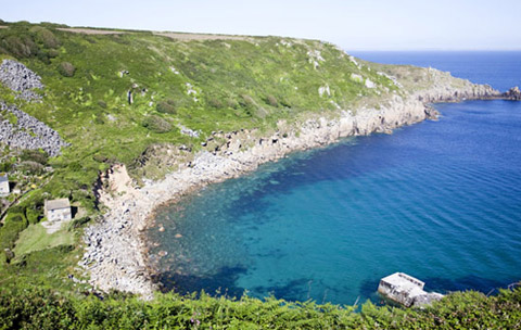 Cornwall beaches Lamorna Cove Lands End