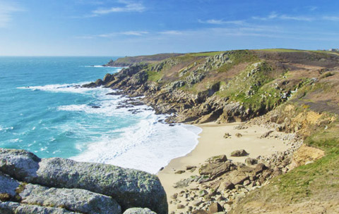 Cornwall beaches Porthchapel Beach Lands End