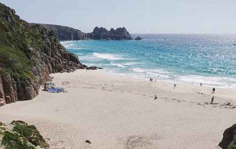 Cornwall beaches Porthcurno Beach Lands End