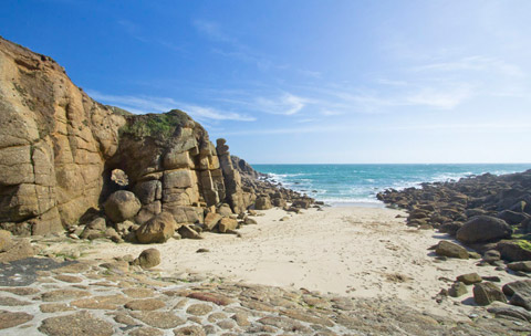 Cornwall beaches Porthgwarra Beach Lands End