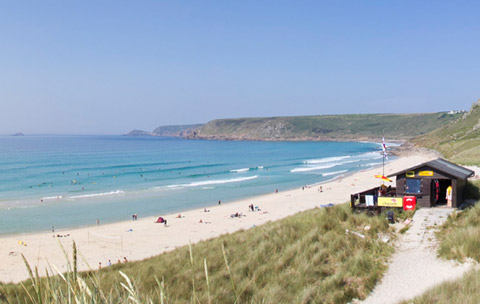 Cornwall beaches Sennen Cove Beach Lands End
