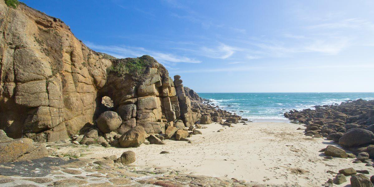 Porthgwarra beach west cornwall