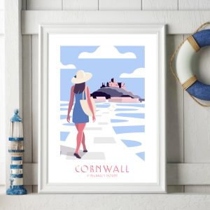Cornwall Travel Poster St Michael's Mount