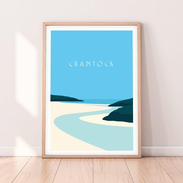 Crantock beach Print Newquay Print Cornwall Beach Print
