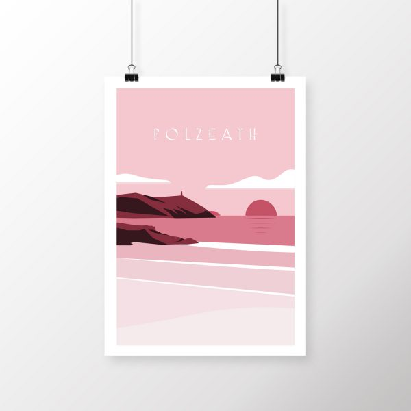 Polzeath beach print | Buy Cornwall art