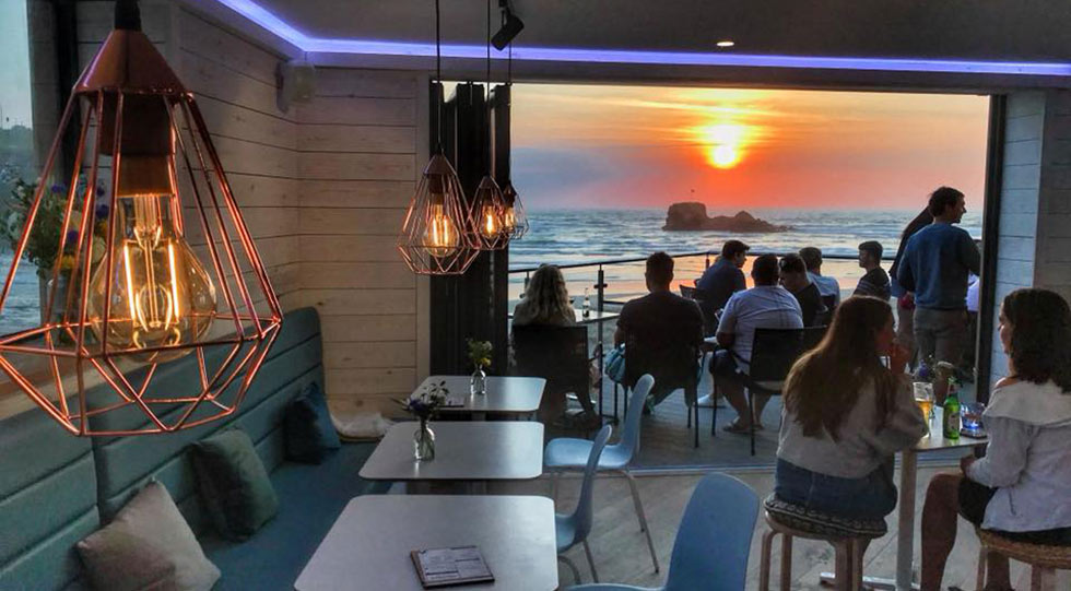 Alcatraz bar & cafe perranporth beach cornwall