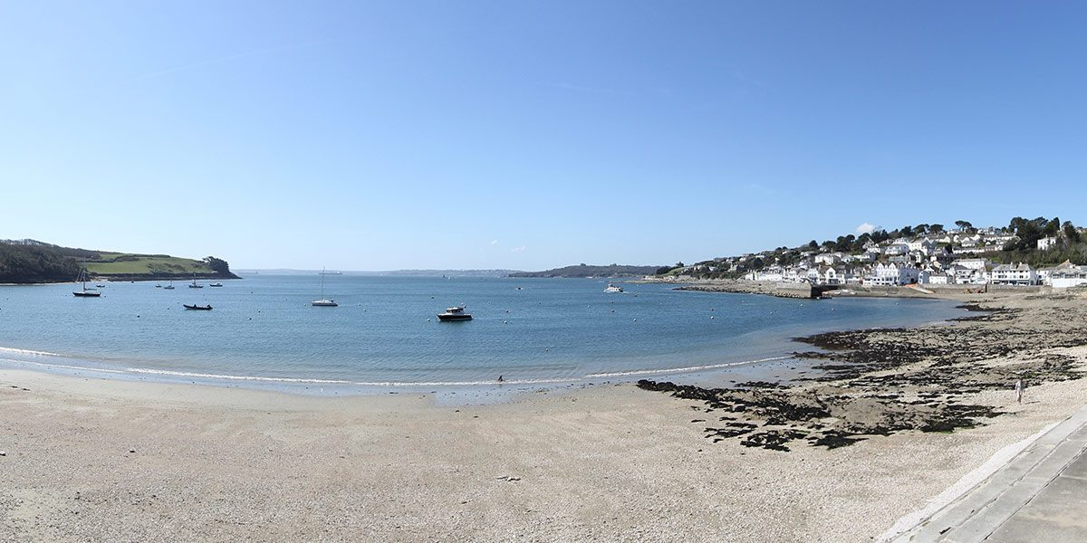 St mawes summers beach cornwall