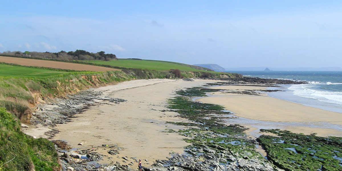 Visit towan beach roseland Cornwall