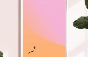 Surf Art Cornwall | Silhouette Surfer Print | Cornwall Art