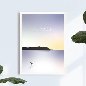 Polzeath beach print | Cornwall art | Cornwall Gifts