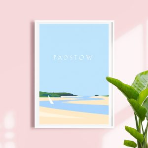 Padstow beach print